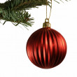Red Ball Christmas Ornament — Stock Photo #4088269