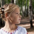Child girl portrait in a birch forest — Stock Photo #14035092