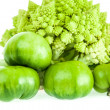 Royalty-Free Stock Photo: Romanesco broccoli and green tomatoes