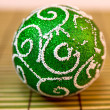 Stock Photo: Green New Year tree ball