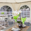 Inside catering tent for reception — Stok Fotoğraf #27966581