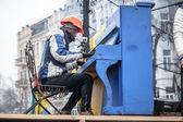 Euromaidan anti-government protests Ukraine — Stock Photo