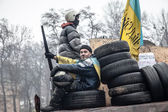 Euromaidan anti-government protests Ukraine — Stock Photo