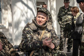 Belbek military base ?4515 in Crimea, Ukraine — 图库照片