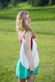 Mooie tiener meisje — Stockfoto