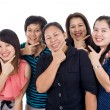 Thai women with big smiles — Stock Photo #4361875