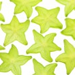 Slices of Star Fruit — Stock Photo