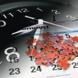 Stock Photo: Jigsaw Puzzle, Calendar and Clock