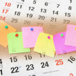 Sticky Notes and Calendar Pages — 图库照片