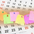 Sticky Notes and Calendar Pages — Stockfoto