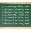 Stock Photo: Blackboard with Messages