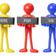 Stock Photo: Rubber Figures with Voting Concept