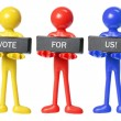 Rubber Figures with Voting Concept - Stock Photo