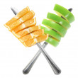 Slices of Apple and Orange — Stock Photo