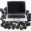 Laptop and Computer Keys — Stock Photo