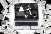 ラップトップおよびコンピューターのキー — Stockfoto