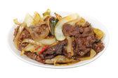 Mongoliskt nötkött maträtt — Stockfoto