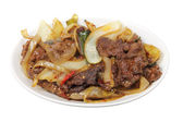 Mongolian Beef Dish — Stock Photo