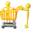 Miniature Shopping Trolley — Stock Photo