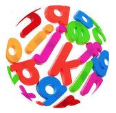 Plastic Alphabets — ストック写真