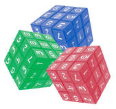 Number Cube Puzzles — Stock Photo