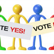 Voting Concept with Miniature Figures — Stock Photo