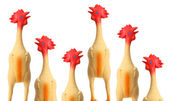 Toy Rubber Chickens — Stock Photo