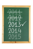 Blackboard with Years — Stock Photo