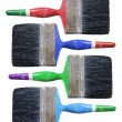 Old Paint Brushes — Foto Stock