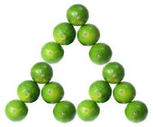 Stack of Limes — Stock Photo