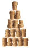 Stack of Champagne Corks — Stock Photo