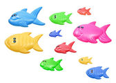 Toy Fishes — Stock Photo