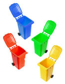Miniature Garbage Bins — Stock Photo