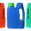 Plastic Oil Bottles - Stock Photo
