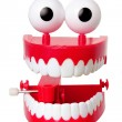 Chattering Teeth Toy - Stock Photo