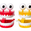 Chattering Teeth Toys - Stock Photo