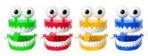 Chattering Teeth Toys — Stock Photo