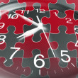 Clock and Jigsaw Puzzle Pieces — Stock Photo