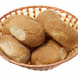 Bread Rolls in Basket — ストック写真
