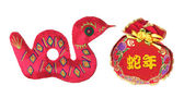 Year of the Snake Ornaments — Stock Photo