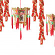 Stock Photo: Lanterns and Firecrackers