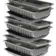 Stock Photo: Stack of Food Trays