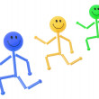 Stock Photo: Smiley Figures