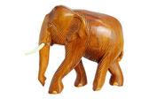 Wooden Elephant Figurine — Stock Photo