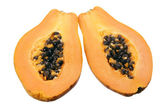 Papaya in Halves — Stock Photo
