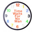 Wall Clock with Message — Stock Photo