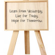 Easel with Message of Motivation — Stock Photo #28248491