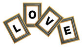 Love Photo Frame — Stock Photo
