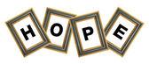 Hope Photo Frame — Stock Photo