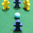 Stock Photo: Figures on Snooker Table